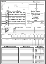 photo relating to Printable Dungeons and Dragons Character Sheet identify Dragonsfoot - Identity Sheets
